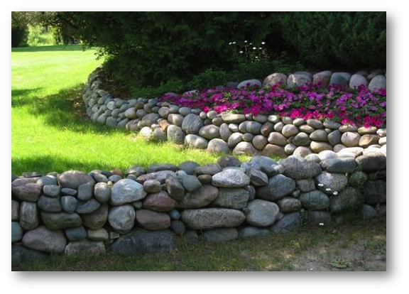 The new stone age innovation in stone wall construction for River rock wall